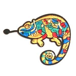 Accessories - Gekko patch iron on lizard applique DIY reptile